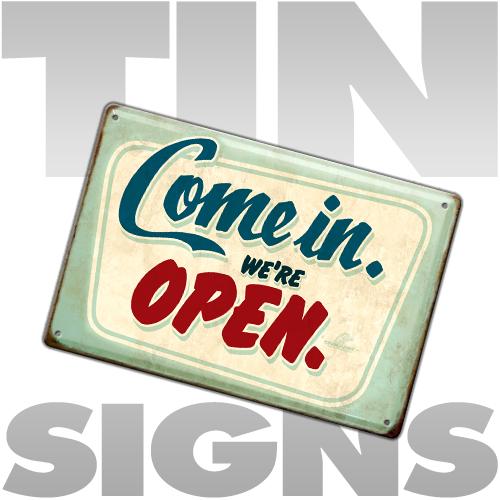 tin sign