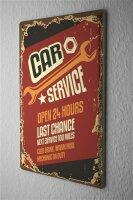 Tin Sign Office Workshop car service Vintage