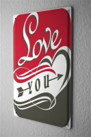 Tin Sign Marriage Happiness Love you