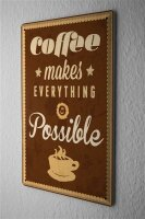 Tin Sign Coffee Cafe Bar Coffee quote