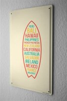 Tin Sign Holiday Travel Agency world surfing