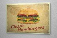 Tin Sign Kitchen Hamburger cheeseburger