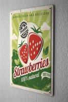 Tin Sign Kitchen Premium strawberries