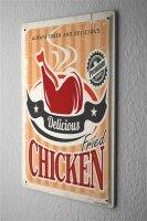 Tin Sign Kitchen Chicken thigh retro
