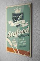 Tin Sign Kitchen Seafood