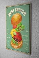Tin Sign Kitchen Best Hamburger