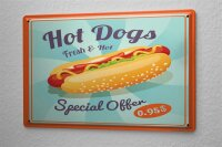 Tin Sign Kitchen Hot dogs