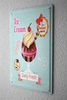 Tin Sign Kitchen Ice cream