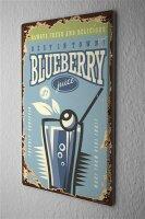 Tin Sign Kitchen Blueberry Juice