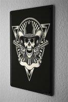 Tin Sign Retro Skull and crossbones