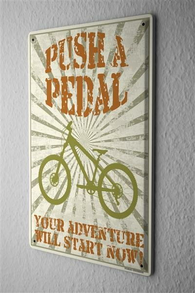 Blechschild Fun Fahrrad Mountainbike