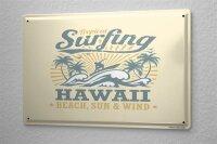 Blechschild Nostalgie Traktor Hawaii Surfing