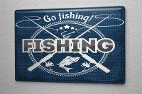 Tin Sign Coastal Marine Go fishing