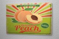 Tin Sign Kitchen delicious peach