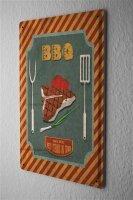 Tin Sign Kitchen BBQ T-Bone
