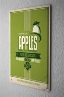 Tin Sign Kitchen Apples