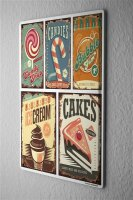 Tin Sign Kitchen Sweets