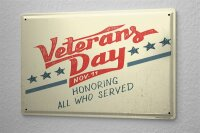Tin Sign Nostalgic Veteran day