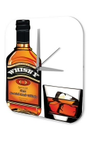 Wanduhr Nostalgie Alkohol Retro Deko Scottish Malt Whisky...