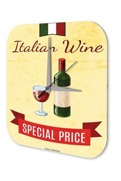 Wanduhr Bar Party Wand Deko Italienischer Wein Dekouhr Retro