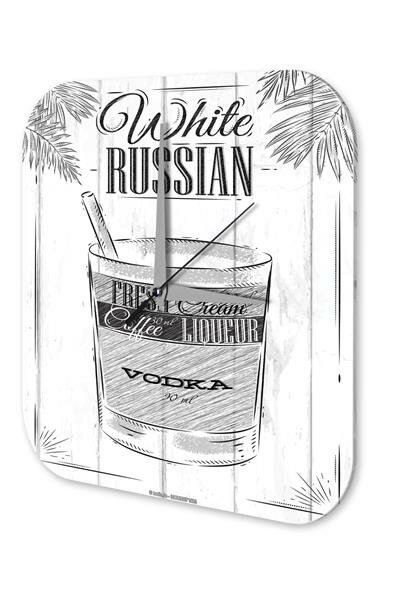 Wall Clock Bar Party Vintage Decoration Russian bar white Plexiglass