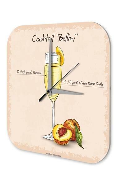 Wall Clock Vintage Cocktail Bellini Bar Pub Restaurant Decor