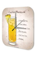 Wall Clock Bar Party Vintage Decoration Cocktail Barracuda Acrylglas