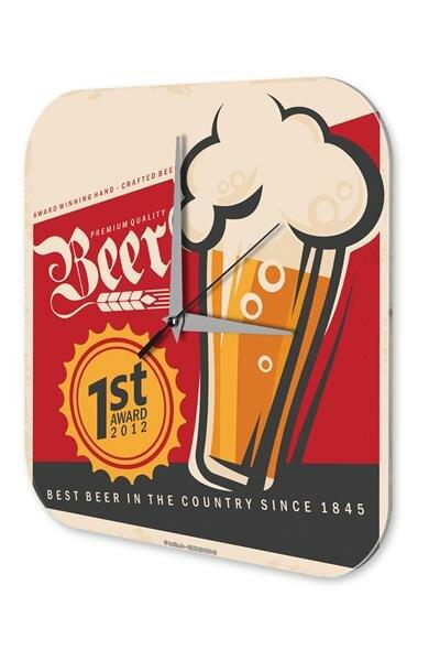 Wall Clock Vintage Beer award Bar Pub Restaurant Decor