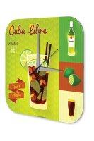 Wall Clock Bar Party Vintage Decoration Cuba Libre Acrylglas