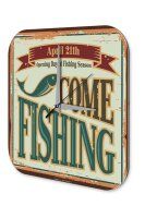 Wall Clock Pisces Angel Fish fishing season Fisherman...