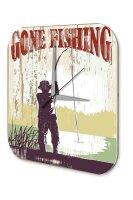 Wall Clock Coastal Marine Decoration Fishing Plexiglass