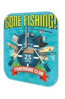 Wall Clock Coastal Marine Decoration Fishing Club Plexiglass