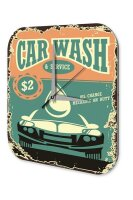 Wall Clock Vintage Car Decoration car wash Acryl Acrylglass