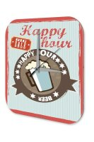 Wanduhr Bier Retro Deko Happy Hour Partykeller Fun Wand Deko