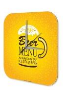 Brewery Beer Wall Clock Kitchen Beer menu cold Acryl...