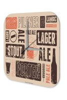 Brewery Beer Wall Clock Kitchen Types of beer Acryl...