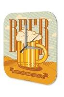 Brewery Beer Wall Clock Kitchen Beer Acryl Acrylglass