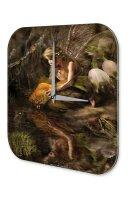 Fun Decorative Wall Clock Fairy goldfish Printed Acryl...