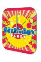 Wall Clock Vintage Birthday party Printed Acryl Plexiglass