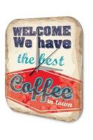 Wall Clock Coffee Cafe Bar best coffee Decorative Acrylglass