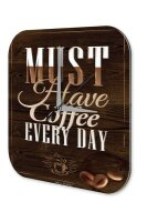 Wall Clock Coffee Cafe Bar Must have Coffee Decorative...