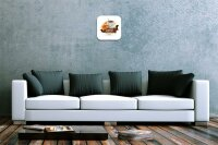 Wall Clock Coffee Cafe Bar Coffee Croissant Decorative...