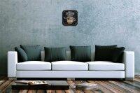 Wall Clock Restaurant Kitchen Decoration Espresso Acrylglass