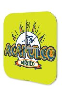 Wall Clock Holiday Travel Agency Acapulco Mexico Plexiglass