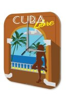Wall Clock Holiday Travel Agency Cuba Libre Plexiglass