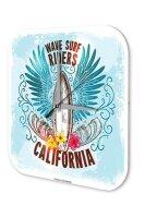 Wall Clock Holiday Travel Agency California Plexiglass
