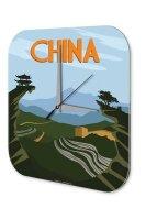 Wall Clock Holiday Travel Agency China Acrylglass