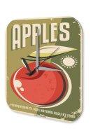 Wall Clock Kitchen Decor Apples Printed Acryl Plexiglass