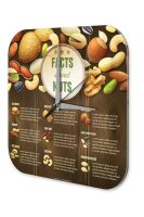 Wall Clock Kitchen Decor facts about nuts Printed Acryl...