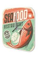 Wall Clock Kitchen Decor Sea Fodd Restaurant Printed...
